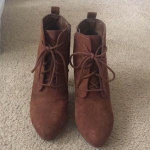 Cute high heeled boots